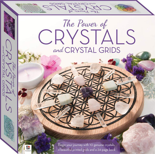 hinkler The Power of Crystals and Crystal Grids (boxed set including 10 crystals, book and grids)