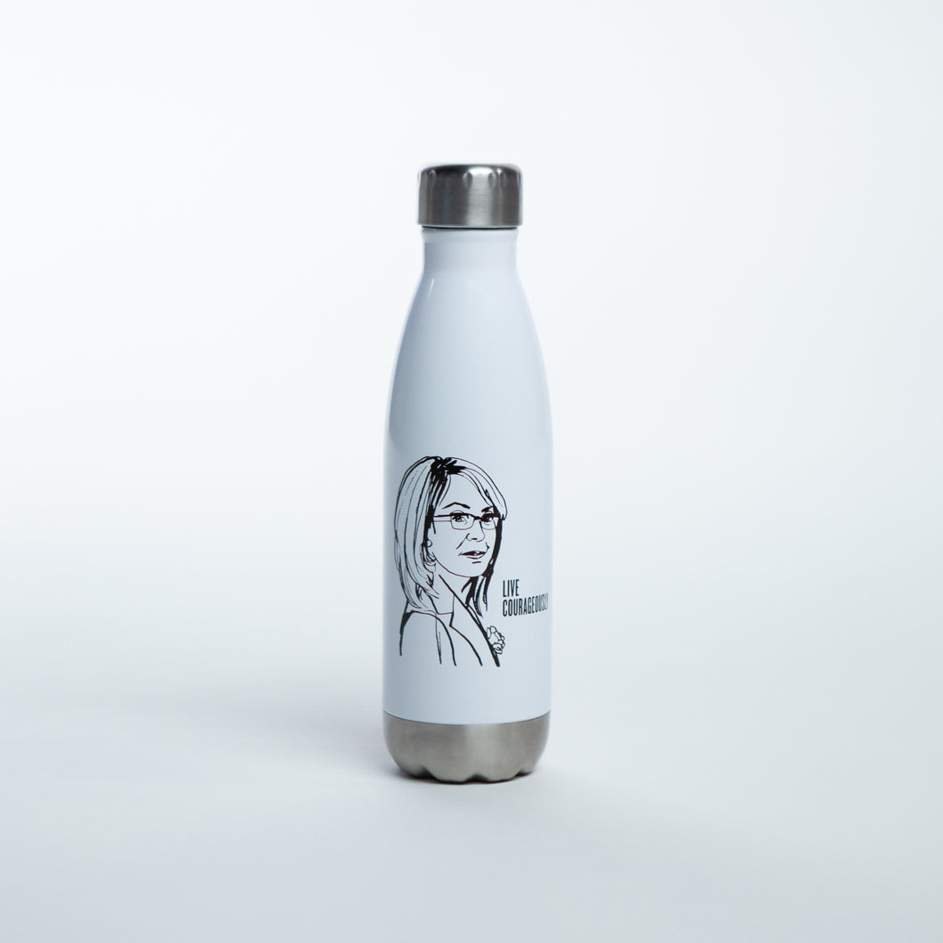 Live Courageously Water Bottle