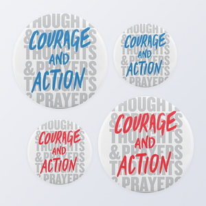 Courage and Action Button Collection (4-Pack)