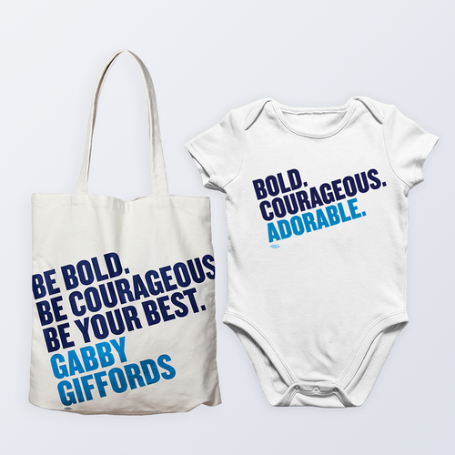 Courageous Tote & Onesie Gift Pack