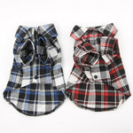 Casual Small Pet Dog Puppy Plaid T Shirt