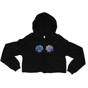 "Mermaid Ninja ""Shells"" Crop Hoodie"