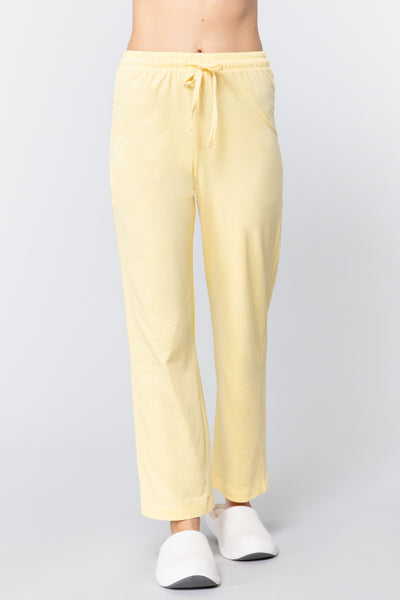 Solid Cotton Pajama Pants