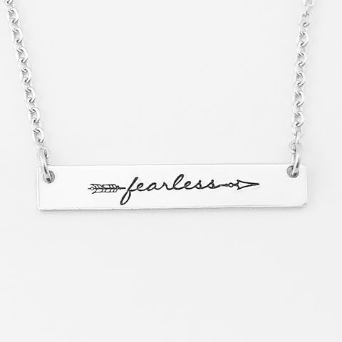 RETIRING STYLE Fearless Bar Necklace
