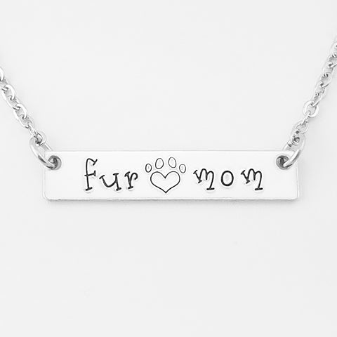 RETIRING STYLE Fur Mom Bar Necklace