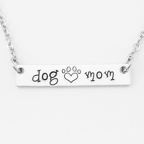 RETIRING STYLE Dog Mom Bar Necklace