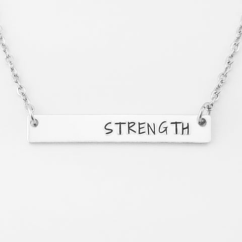 RETIRING STYLE Strength Bar Necklace