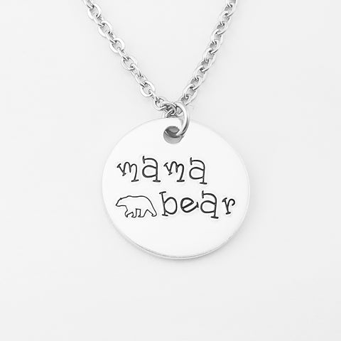 RETIRING STYLE Mama Bear Charm Necklace