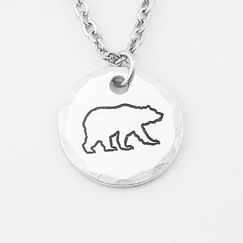 Bear Necklace--Aluminum