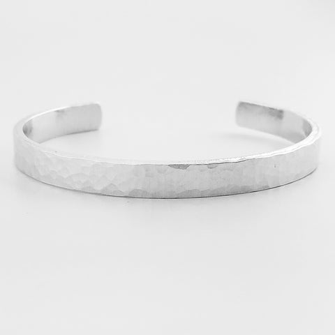 Traditional Hammer Textured Cuff Bracelet