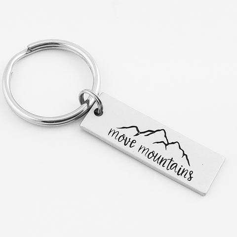 RETIRING STYLE Move Mountains Keychain