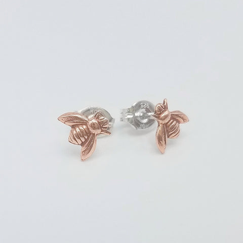 Honey Bee Copper Stud Earrings