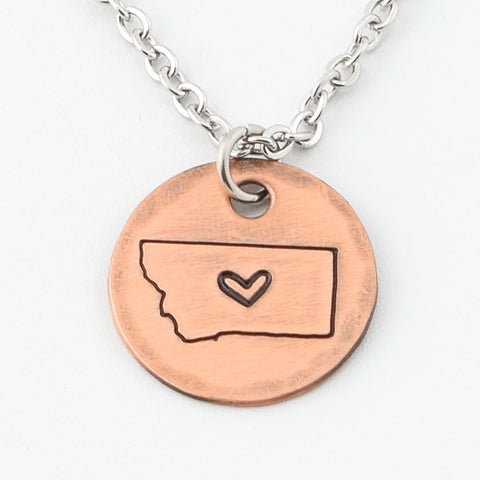 Copper Montana Charm Necklace