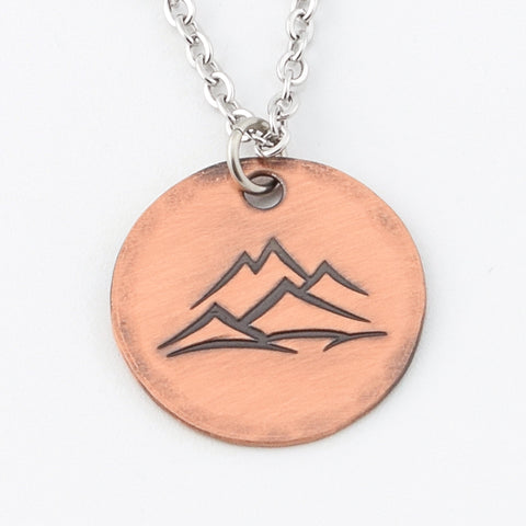 RETIRING STYLE Copper Mountain Peaks Necklace
