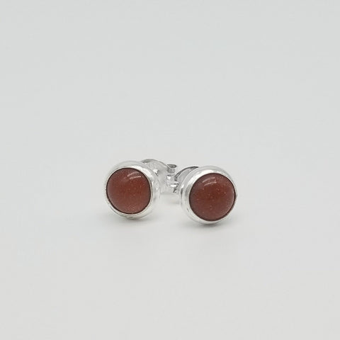 Goldstone Stud Earrings - 6mm
