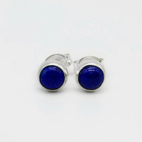 Lapis Lazuli Stud Earrings - 5mm