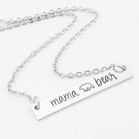 RETIRING STYLE Mama Bear Bar Necklace