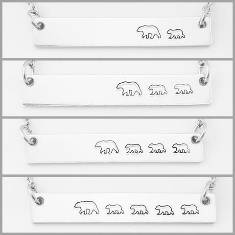 Mama Bear with Cubs Necklace Sets