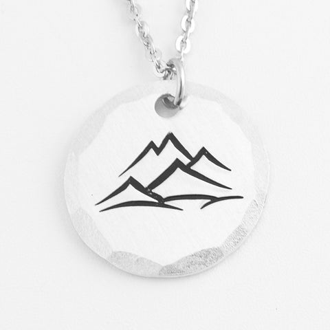 Aluminum Mountain Peaks Necklace