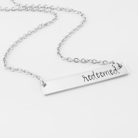 RETIRING STYLE Redeemed Bar Necklace