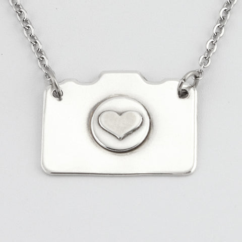 Fine Silver Camera Necklace #1