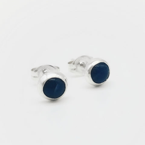 Sodalite Stud Earrings - 5mm