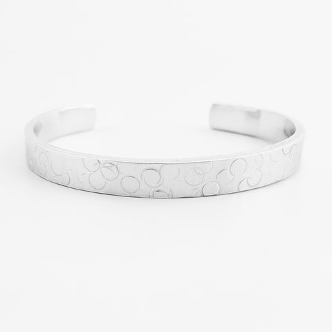 Bubbles Textured Cuff Bracelet
