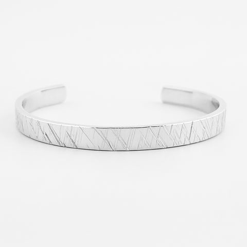 Criss-Cross Textured Cuff Bracelet