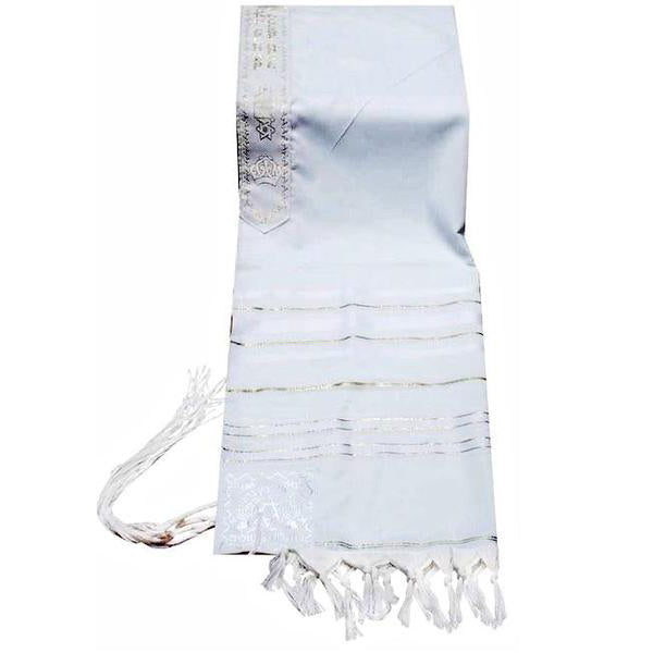 Prayer Shawls (Tallit) White & Gold Trims