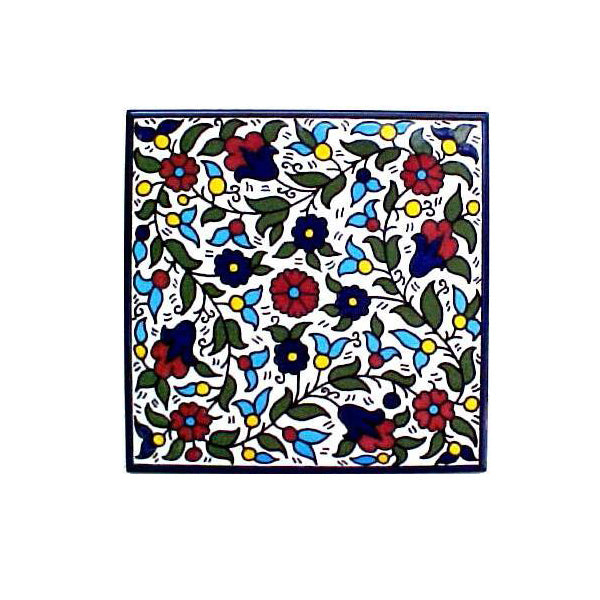 Floral Design - Armenian Ceramic Tile