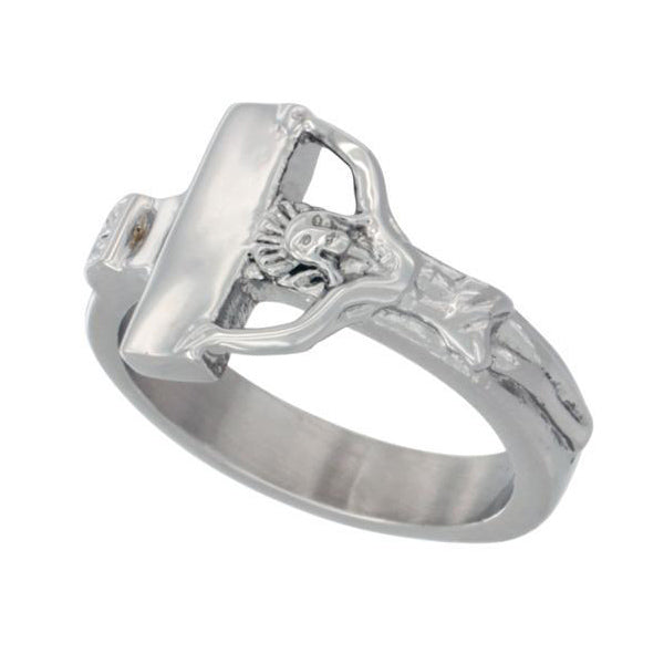 Stainless Steel Crucifix Ring