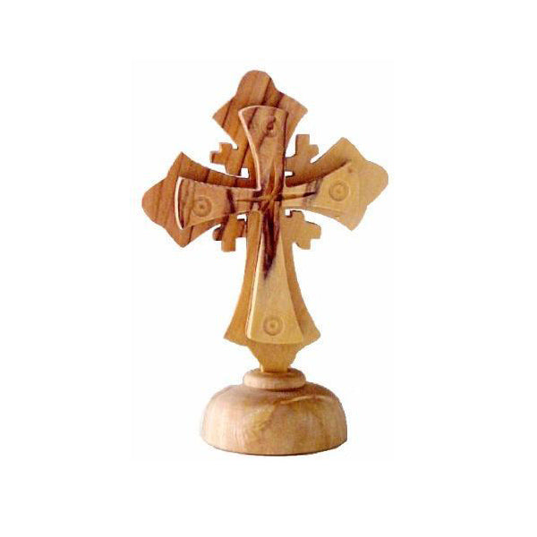 Small Jerusalem Cross on Pedestal