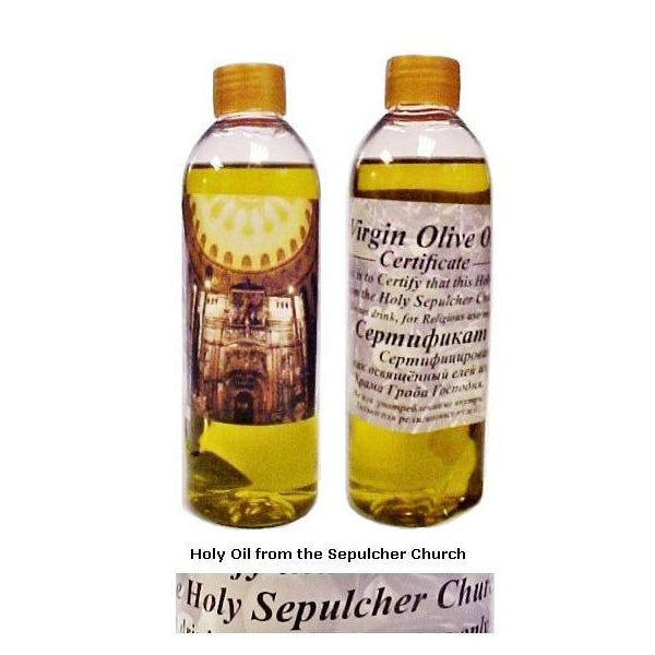 Large Holy Oil from the Sepulcher Church in Jerusalem