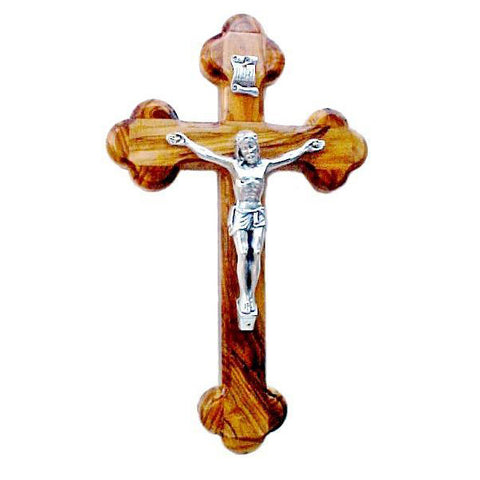 14 Stations Olive Wood Crucifix - 5.3""