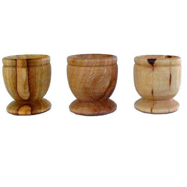 15 Olive Wood Communion Cups Set