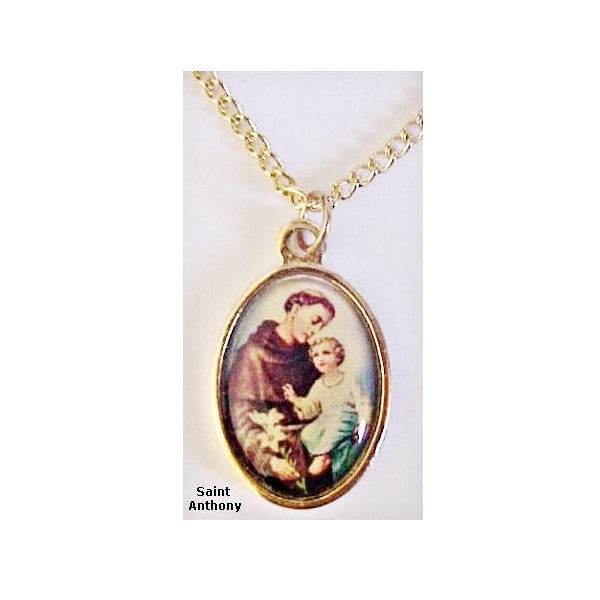 St. Anthony Gold Plated Medal