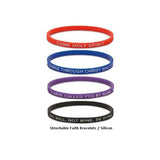 Faith Silicone 4 Bracelets Set