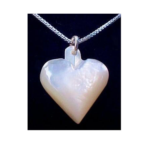 Mother of Pearl ~ Heart Necklace