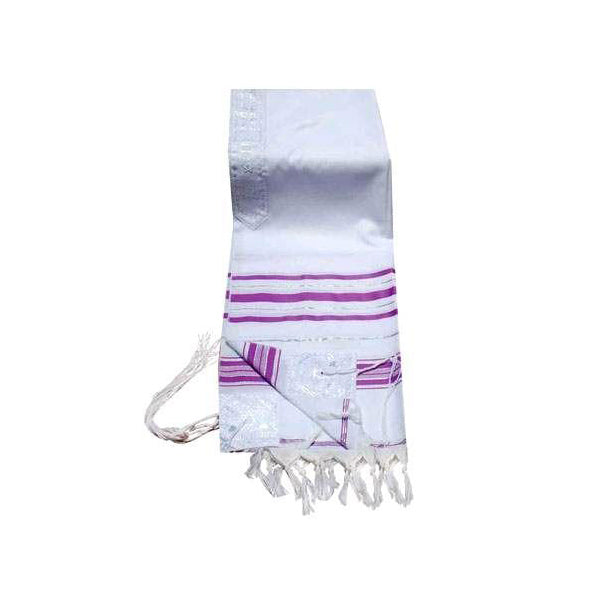 Prayer Shawls Lavender & Silver Trims