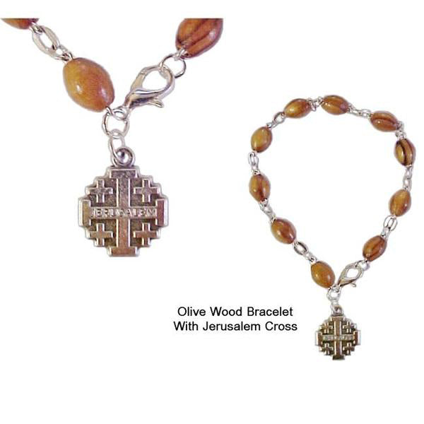Rosary Bracelet with Jerusalem Cross