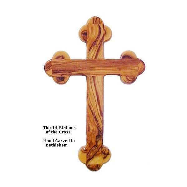 14 Stations Olive Wood Cross - 5.3""
