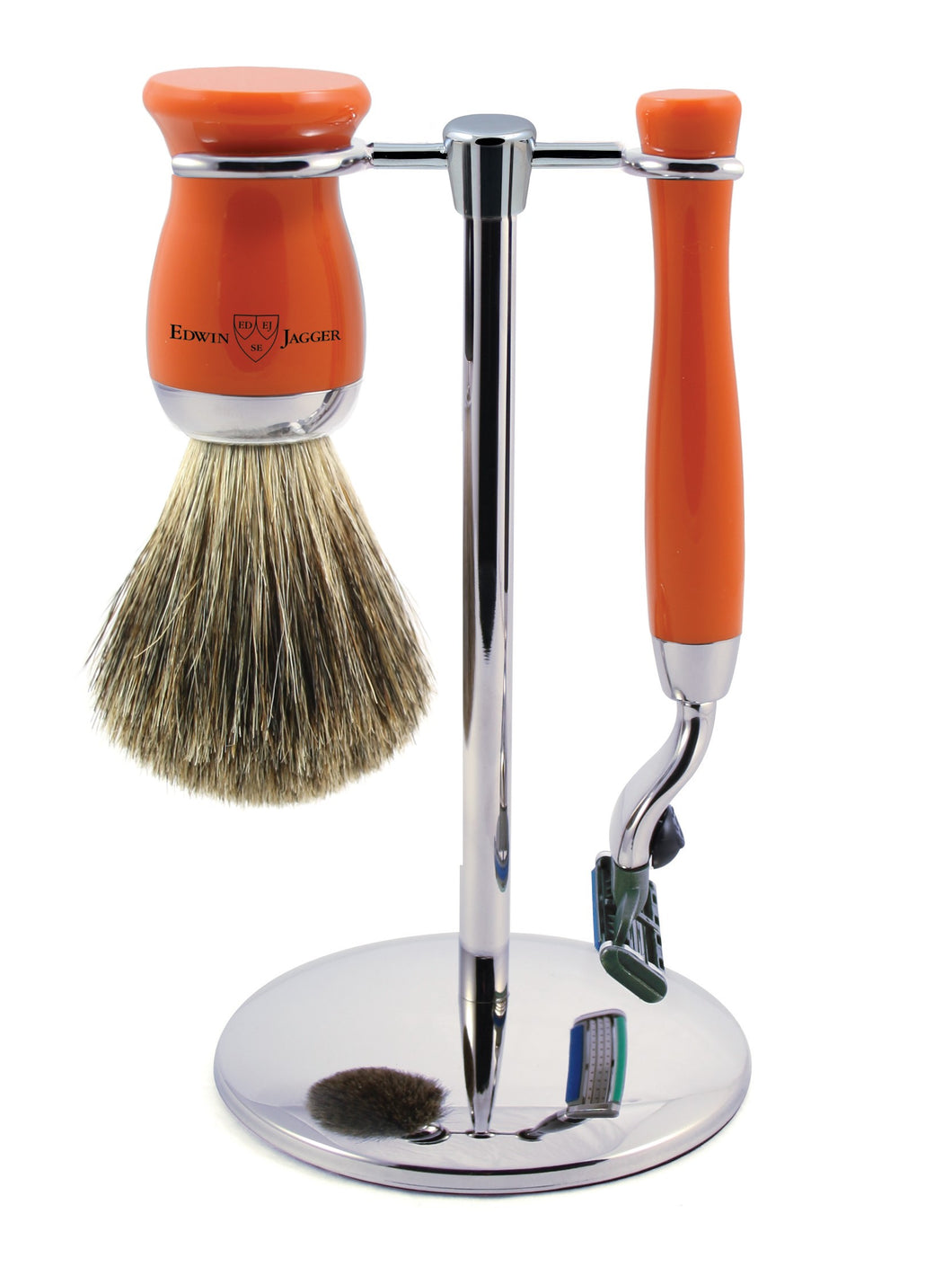 Edwin Jagger 3 Piece Gillette MACH 3 Shaving Set - Orange