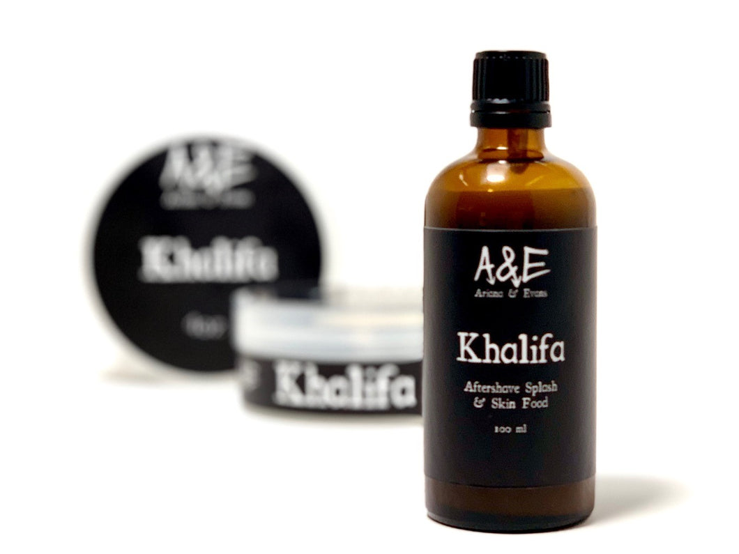 Khalifa Shaving Aftershave Splash & Skin Food