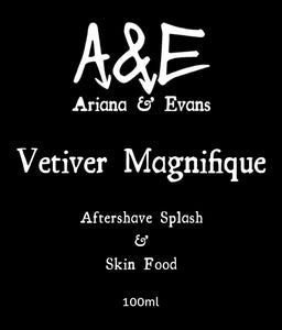 Vetiver Magnifique Aftershave Splash & Skin Food