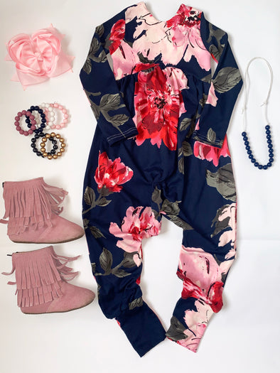 Navy Floral Loving Fall