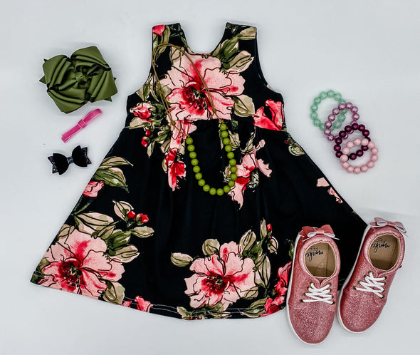 Pink and Black Floral ANights