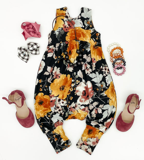 Black Floral Sizes 5-8 ANights
