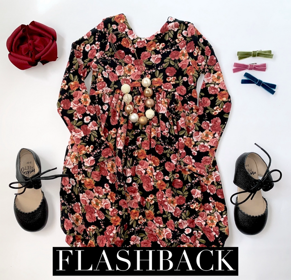 Wine Floral *FLASHBACK* Sizes 5-8 ANights