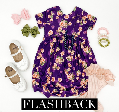 Purple Floral *FLASHBACK* Sizes 5-8 ANights