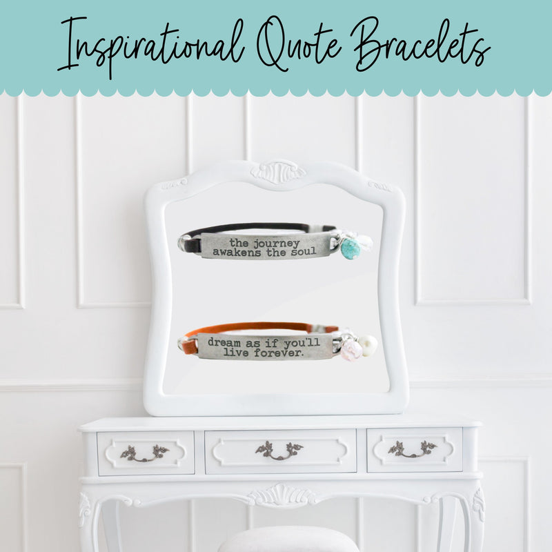 inspirational quote bracelets